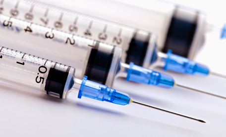 Syringes are made with plastics made possible by light stabilizers